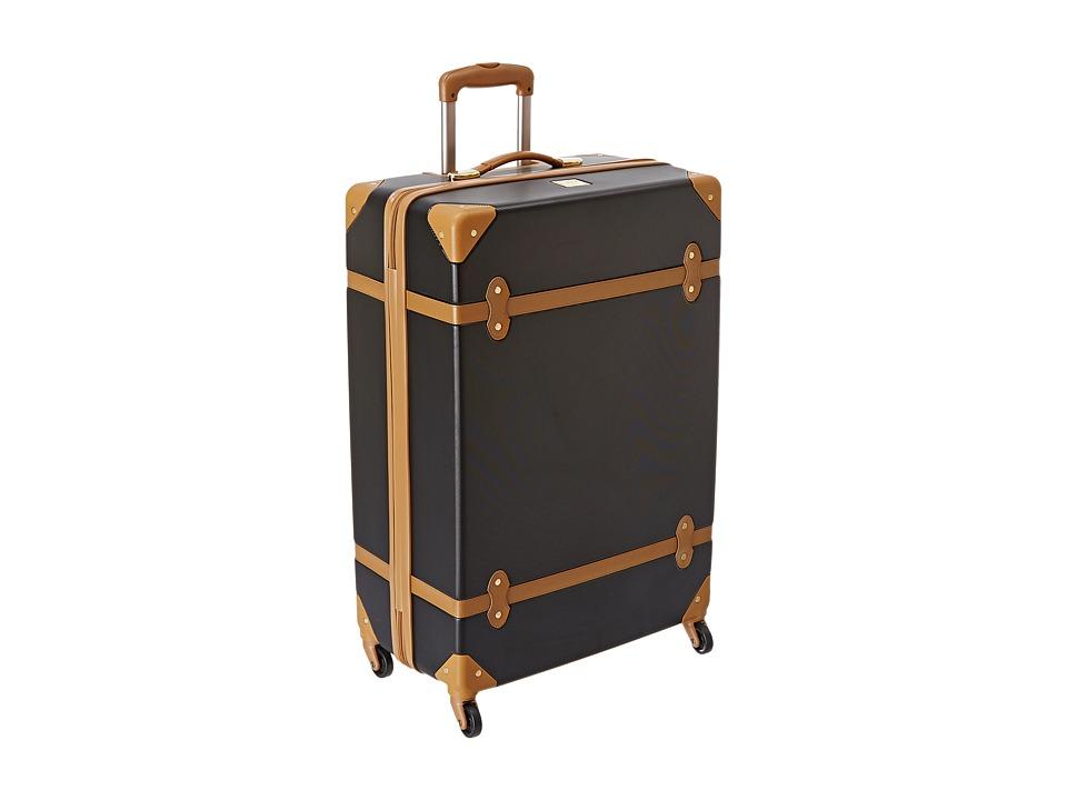 Diane von Furstenberg - Saluti 28 Hardside Spinner (Black/Vachetta) Luggage