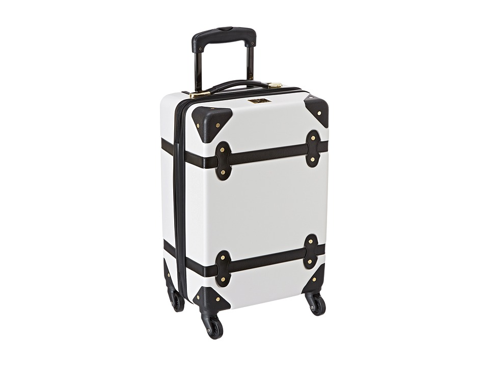 Diane von Furstenberg - Saluti 18 Hardside Spinner (White/Black) Luggage