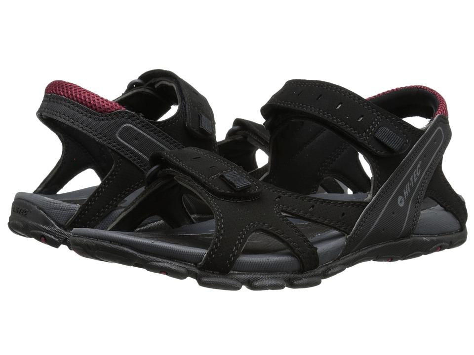 Hi-Tec - Laguna Strap (Black/Charcoal/Port) Men