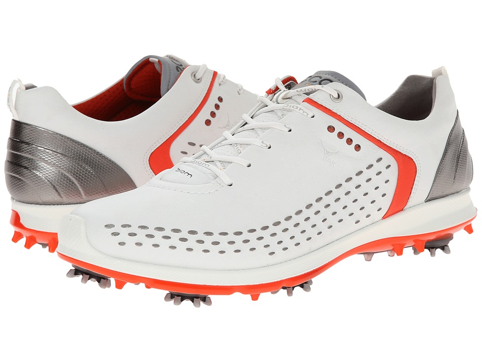 ECCO Golf BIOM G 2 White/Fire Mens Golf Shoes