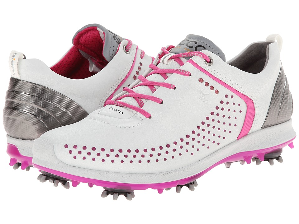 ECCO Golf BIOM G 2 White/Candy Womens Golf Shoes