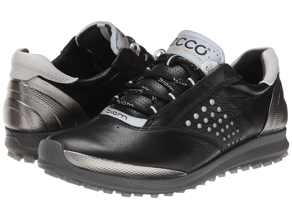 ECCO Golf BIOM Hybrid 2 Black/Buffed Silver Womens Golf Shoes