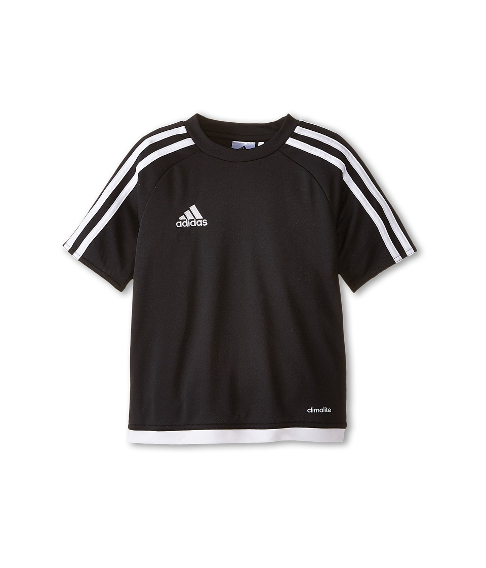 adidas Kids Estro 15 Jersey (Little Kids/Big Kids) (Black/White) Kid
