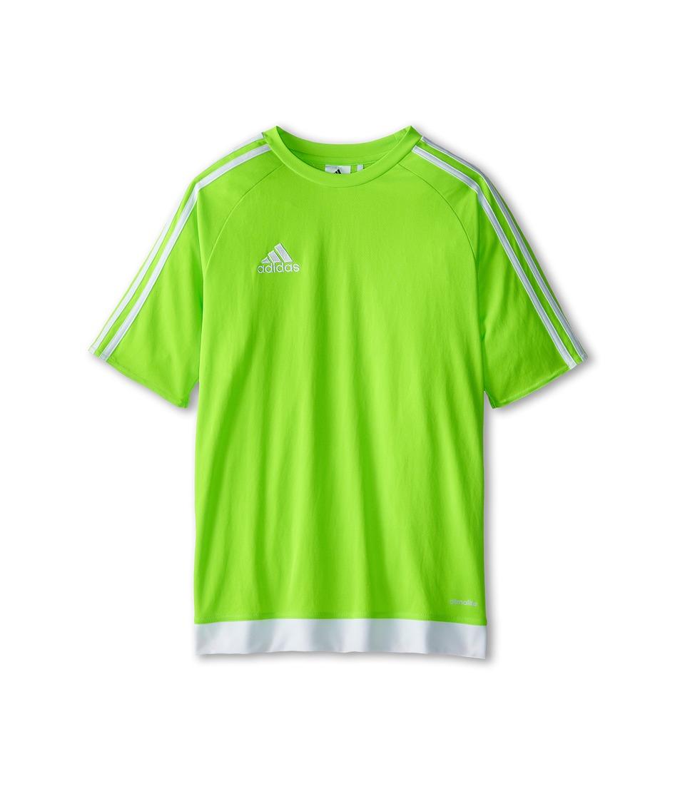adidas Kids Estro 15 Jersey (Little Kids/Big Kids) (Solar Green/White) Kid