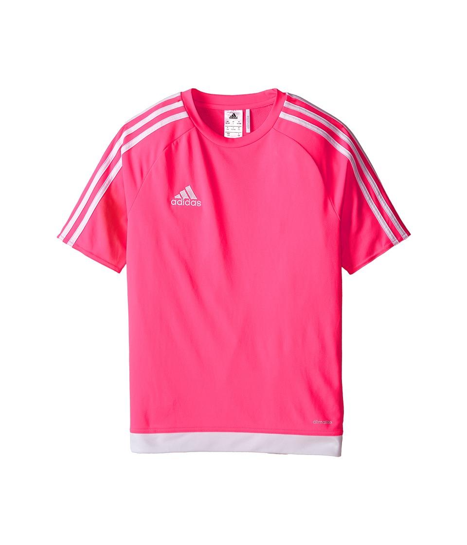adidas Kids Estro 15 Jersey (Little Kids/Big Kids) (Solar Pink/White) Kid
