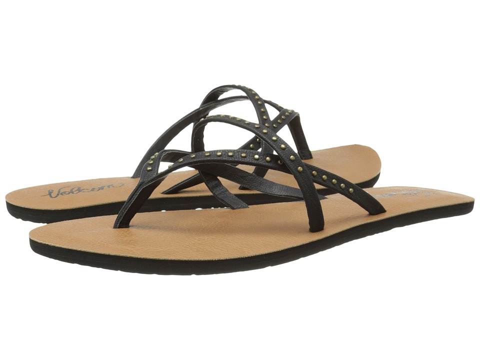 Volcom All Day Long 2 Black Womens Sandals
