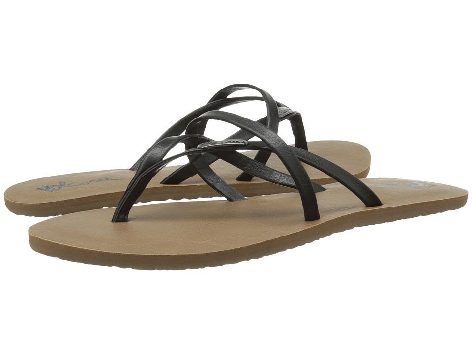 Volcom - All Night Long 2 (Black) Womens Sandals