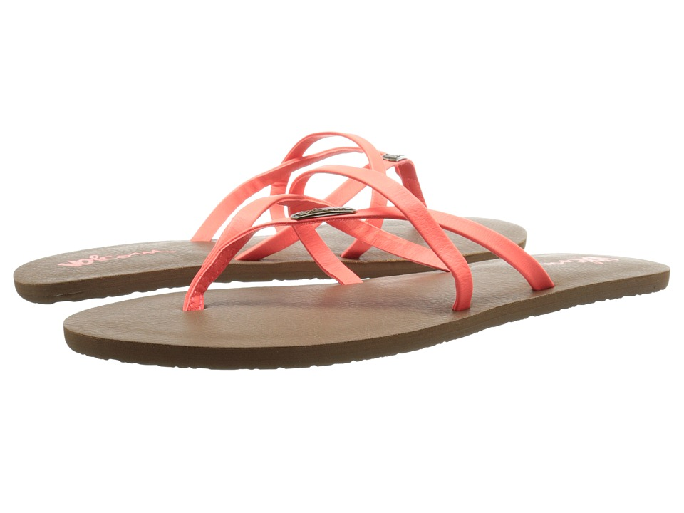 Volcom All Night Long 2 Electric Coral Womens Sandals
