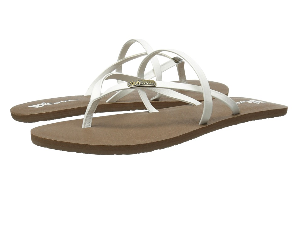 Volcom All Night Long 2 White Womens Sandals