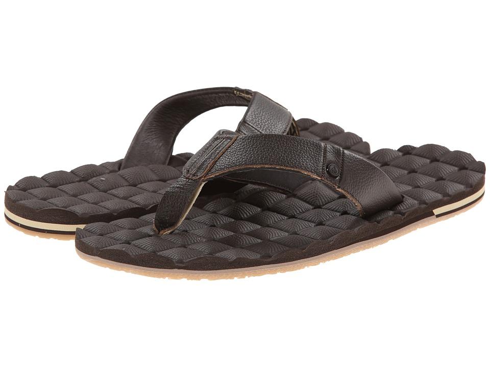 Volcom - Recliner Leather (Brown) Men