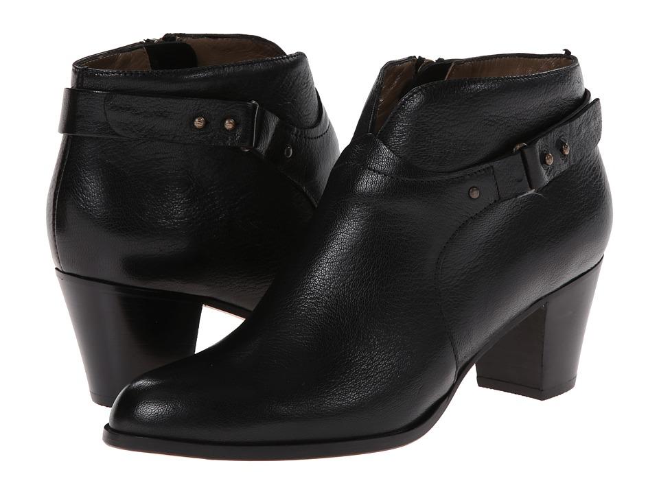 Anyi Lu Cynthia Black Tumbled Lux Womens Zip Boots