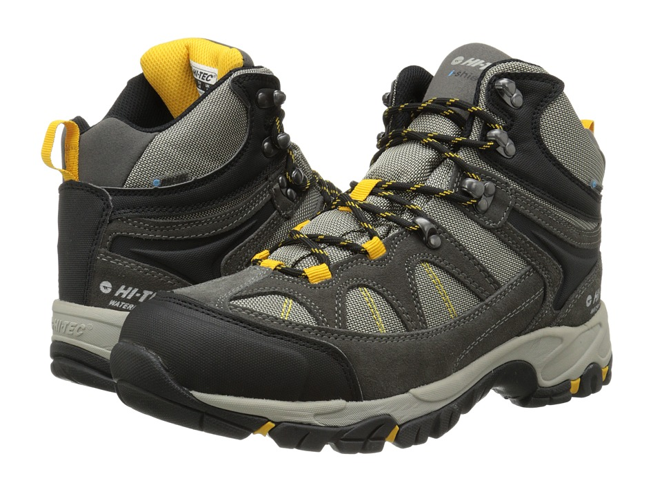 Hi-Tec - Altitude Lite I-Shield Waterproof (Charcoal/Warm Grey/Gold) Mens Hiking Boots