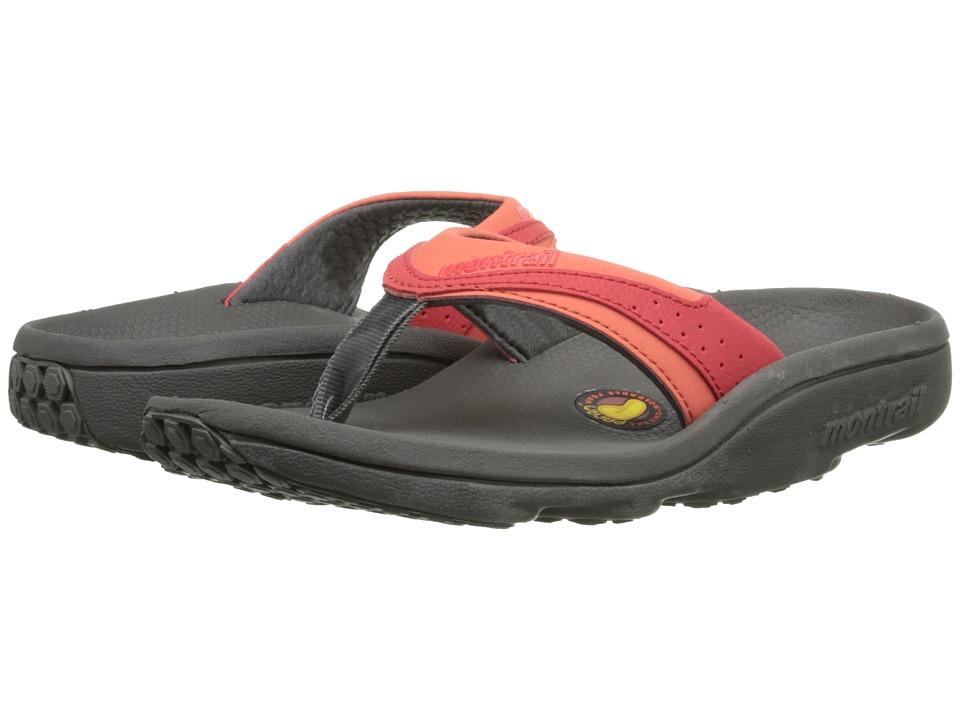 Montrail Molokini II Charcoal/Corange Womens Toe Open Shoes