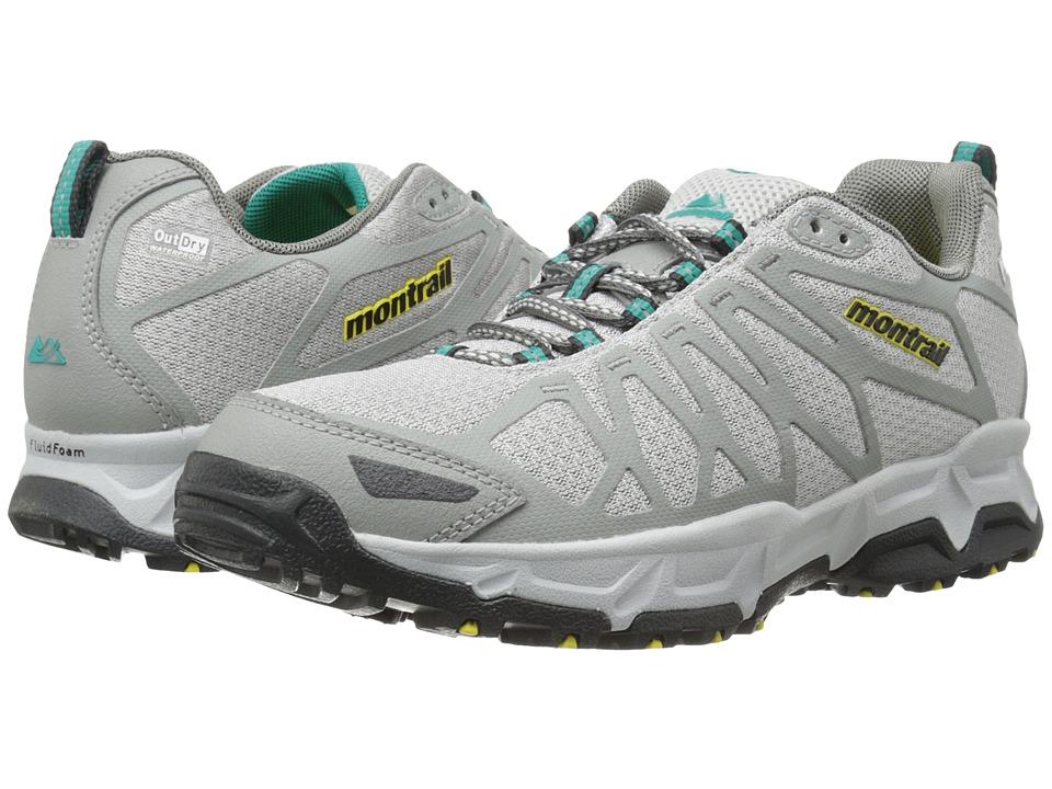 Montrail Fluid Fusion Outdry Cool Grey/Platinum Womens Shoes