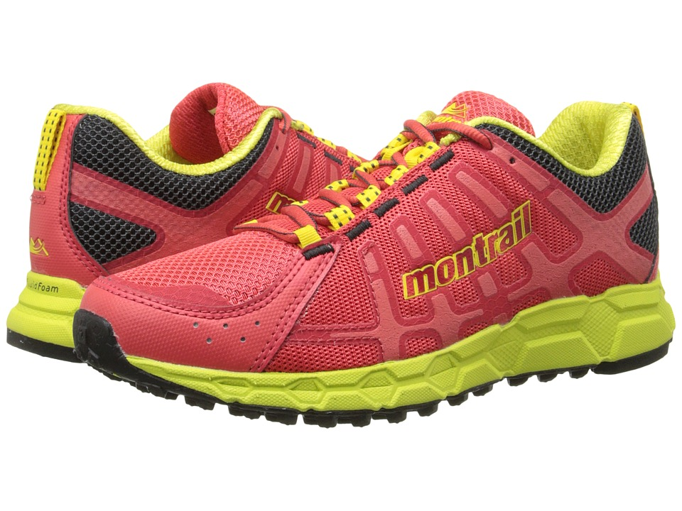 Montrail Bajada II Red Hibiscus/Chartreuse Womens Shoes