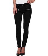 Paige - Indio Zip Ultra Skinny in Noir/Soft Gold