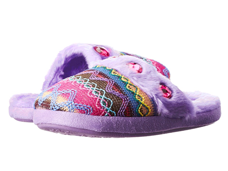 M&F Western Kids - Knit Print Slide Slippers (Toddler/Little Kid/Big Kid) (Purple) Girls Shoes