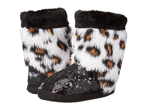 M&F Western Furry Sequin Bootie Slippers (Toddler/Little Kid/Big Kid) - Leopard/Black