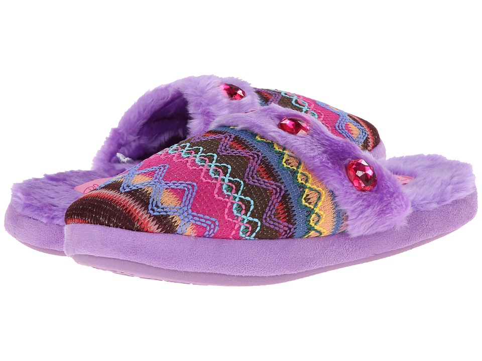 M&F Western - Knit Print Slide Slippers (Purple) Womens Slippers