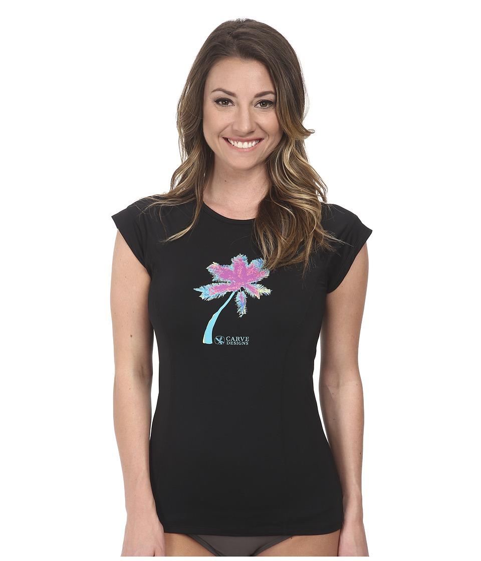 Carve Designs - Belles Beach Rashguard (Black 1) Women's Swimwear