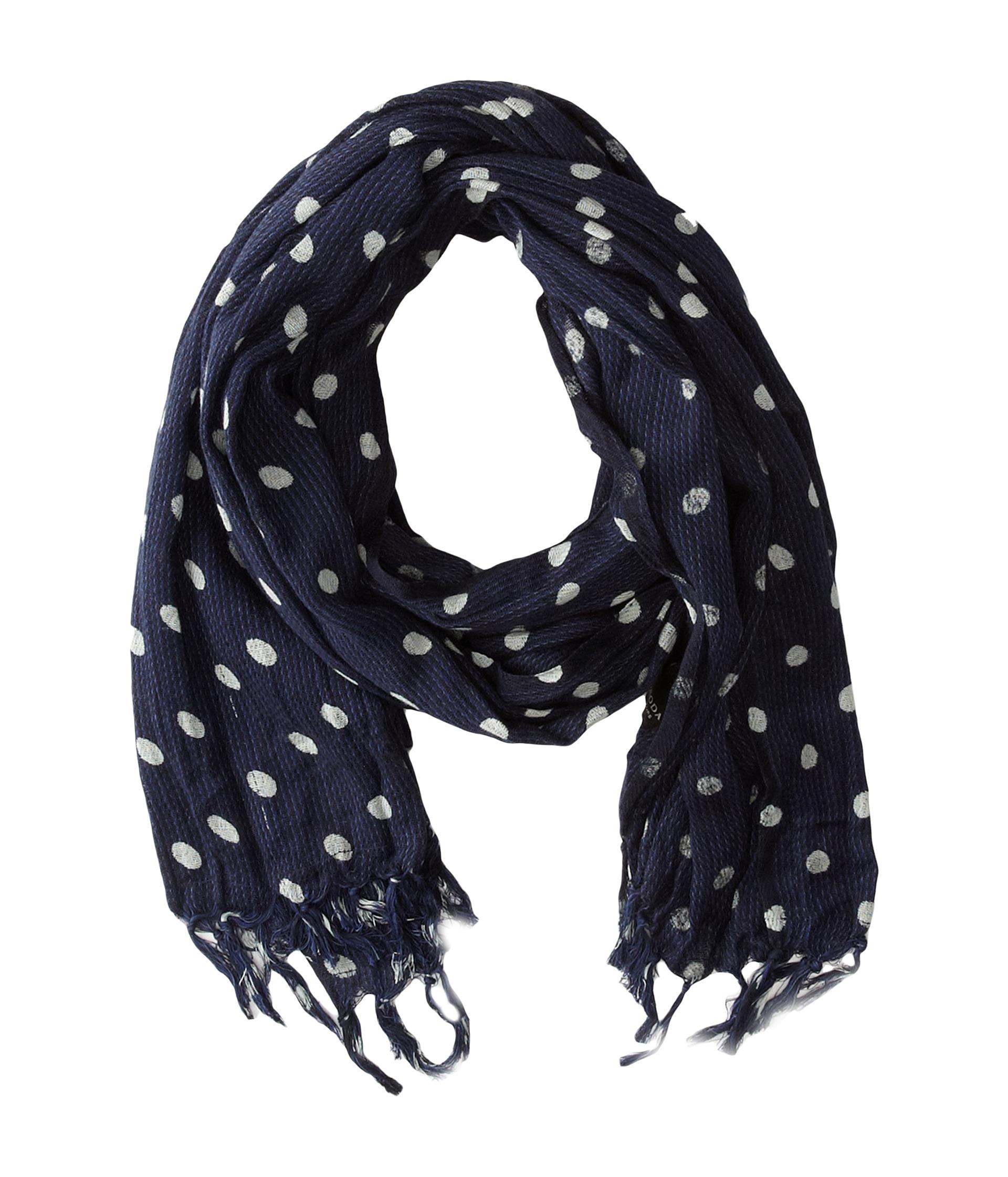 scotch soda printed polka dot scarf zappos free