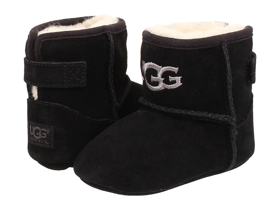 UGG Kids Jesse Infant/Toddler Black Suede Kids Shoes