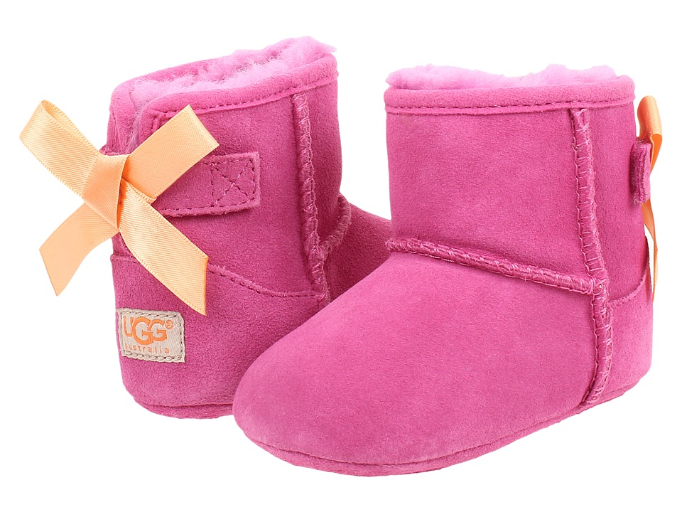 UGG Kids Jesse Bow Infant/Toddler Princess Pink Suede Girls Shoes