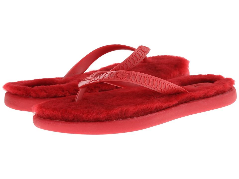 Shop UGG online and buy UGG Fluffie Red-Sheepskin Womens Sandals online