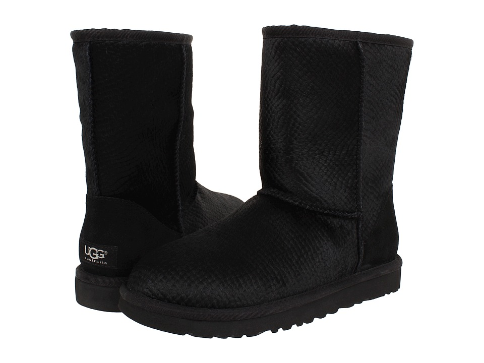 Shop UGG online and buy UGG Classic Short Calf Hair Scales Black Calf Hair Women's Pull-on Boots shoes online