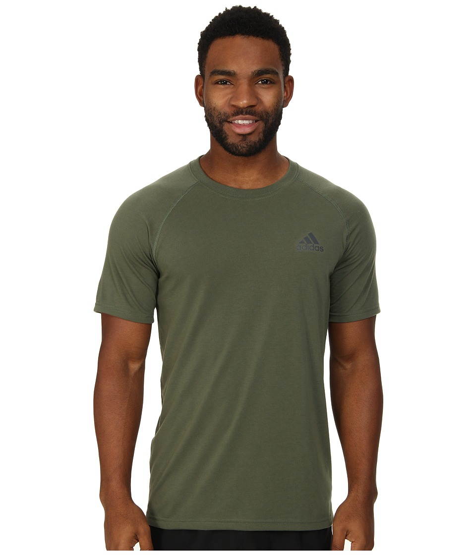 adidas - Ultimate S/S Crew Tee (Base Green/DGH Solid Green) Men