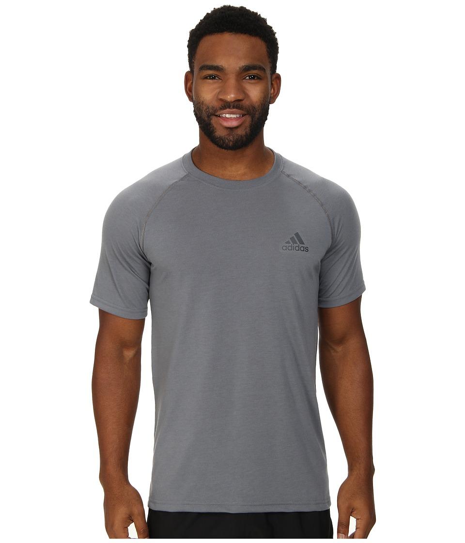 adidas - Ultimate S/S Crew Tee (Vista Grey/DGH Solid Grey) Men