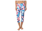 adidas Performer Mid-Rise Three-Quarter Tight Festival Print