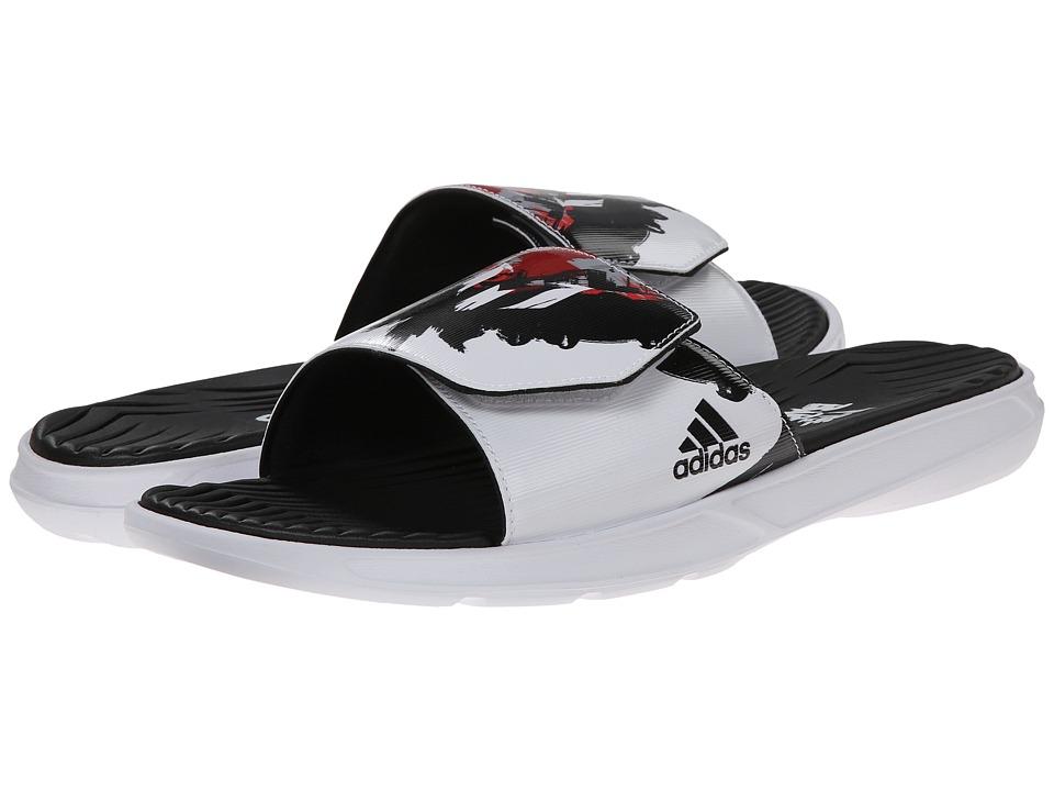 adidas - Messi Slide (Black/Scarlet/White) Men's Shoes