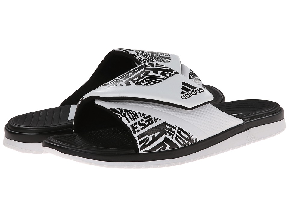adidas - Carmoflage Slide (Black/White) Men's Slide Shoes