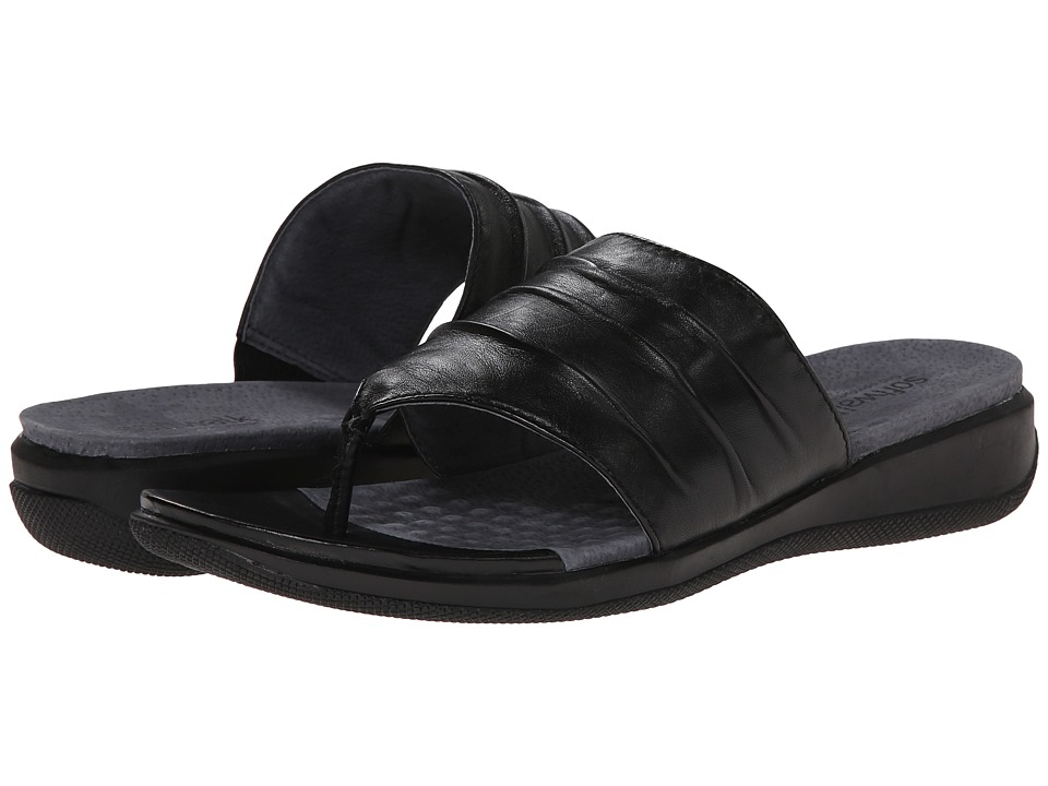 SoftWalk - Toma (Black Soft Nappa Leather) Women's Sandals