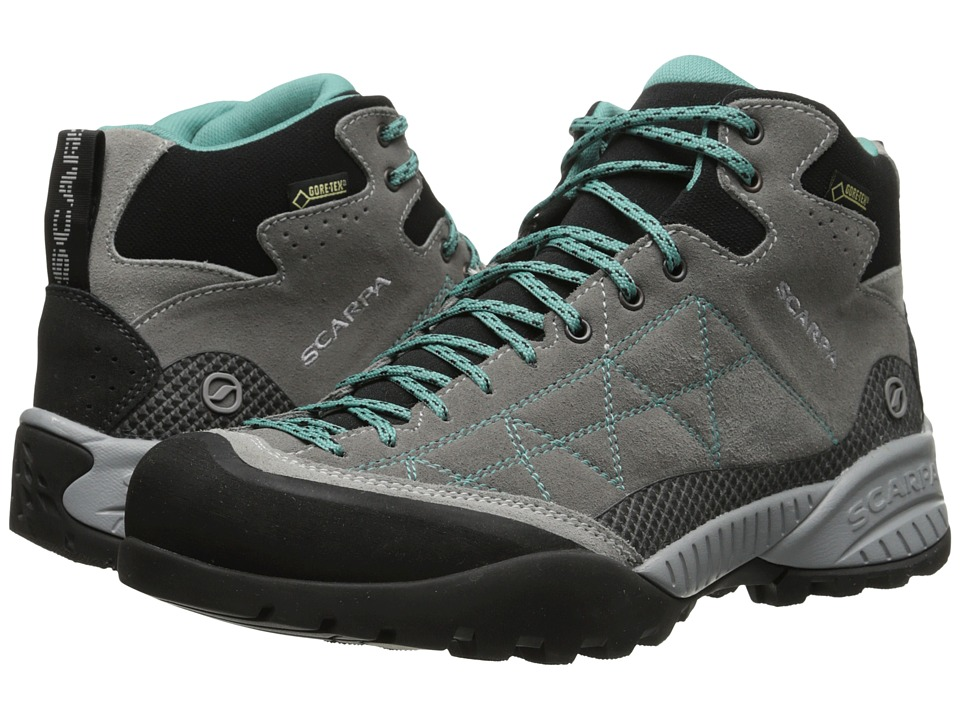 Scarpa - Zen Pro Mid GTX(r) (Mid Grey/Lagoon) Womens Shoes