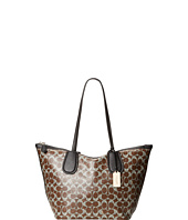 COACH - Coated Linen Signature Taxi Zip Tote