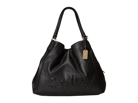COACH Embossed Shoulder Bag