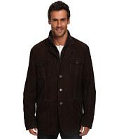 Stetson - Suede Jacket w/ Wool Zipper Insert