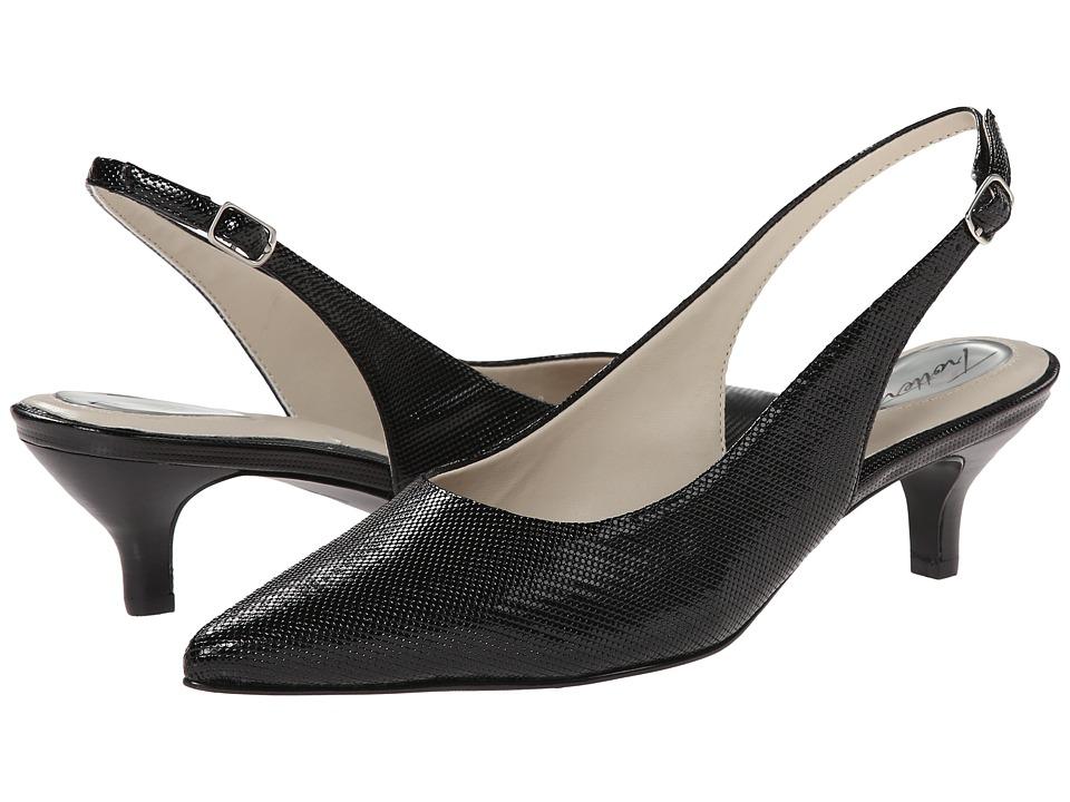 Trotters Prima (Black Mini Embossed Patent Leather) Women