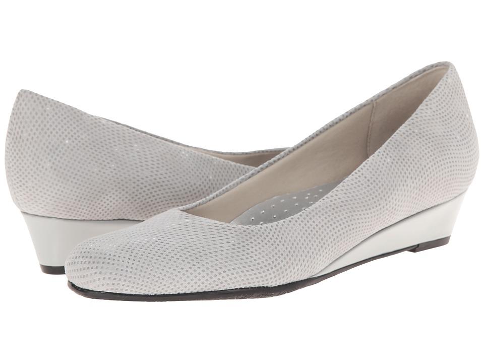 Trotters - Lauren (Light Grey 3D Patent Suede Leather) Women