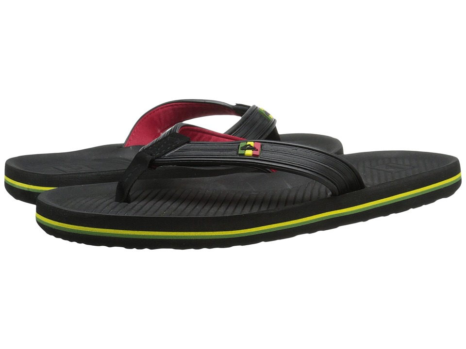 Quiksilver - Haleiwa Deluxe (Black/Red/Green) Men