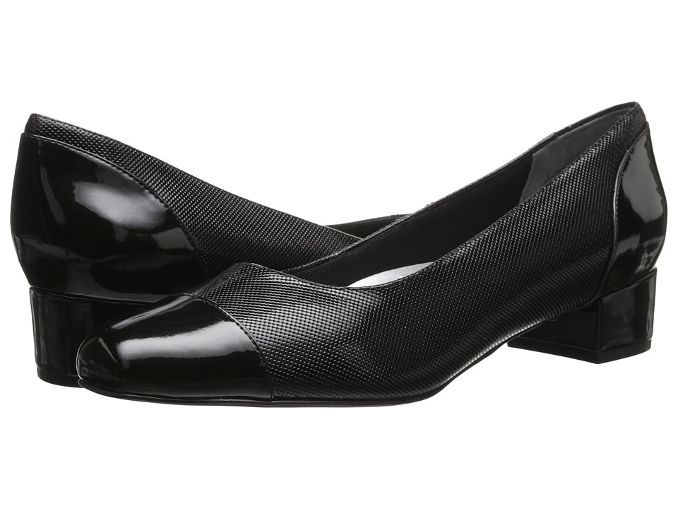 Trotters Danelle (Black Mini Embossed Patent Leather) Women
