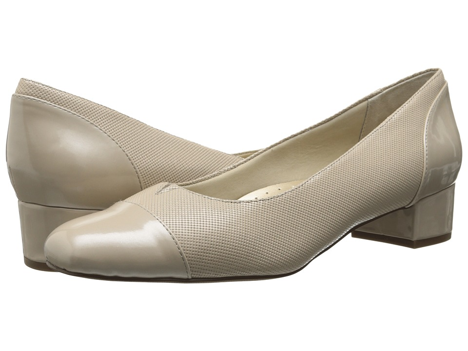 Trotters Danelle Nude Mini Embossed Patent Leather Womens Slip on Shoes