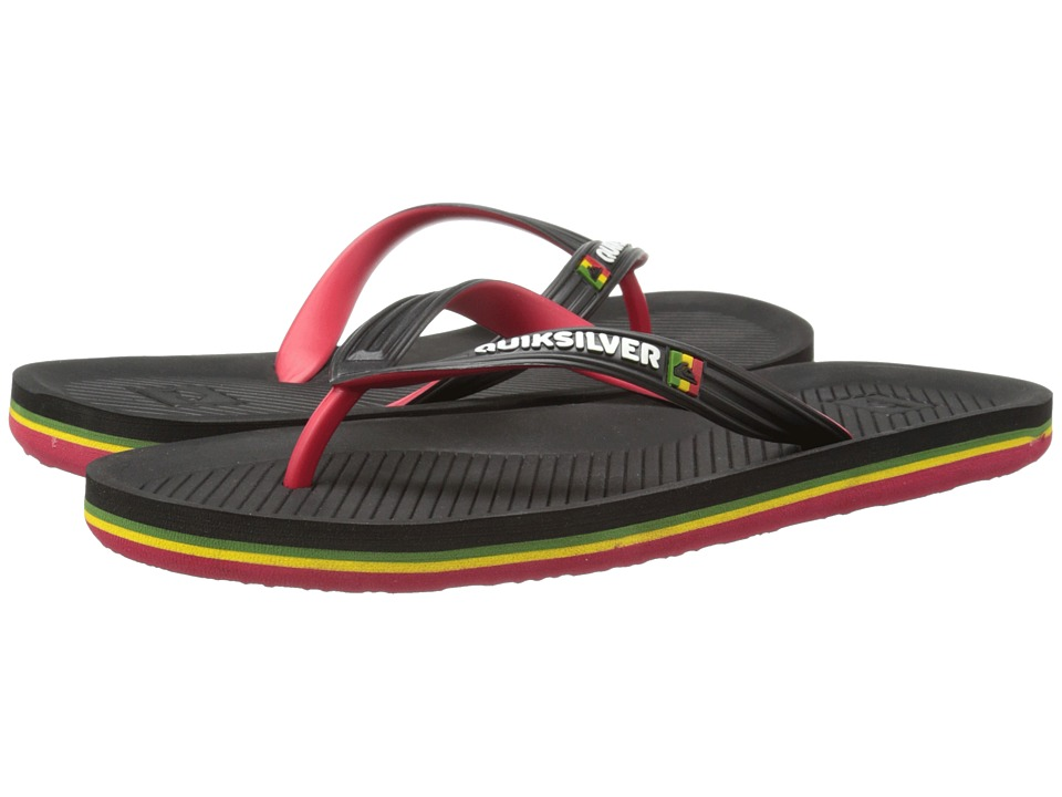 Quiksilver - Haleiwa (Black/Red/Green) Men