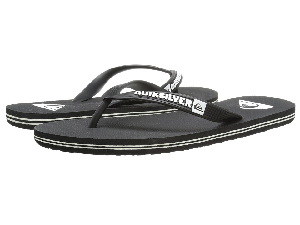 Quiksilver Molokai (Black/Black/White Multi Snake) Men