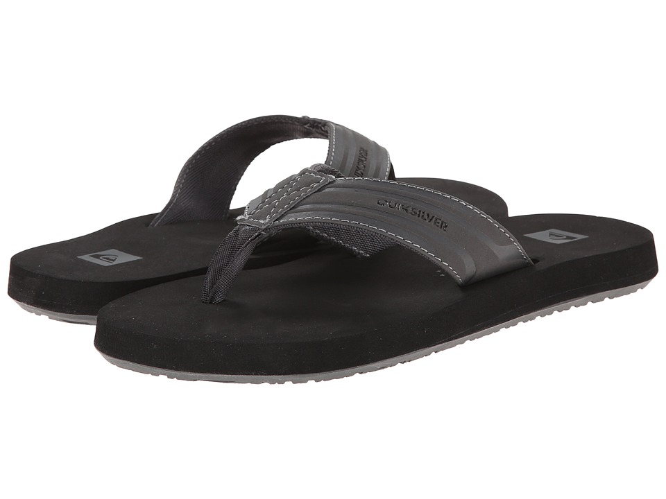 Quiksilver - Monkey Wrench (Grey/Black/Grey) Men's Sandals