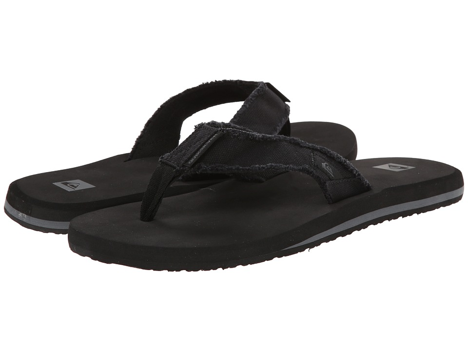 Quiksilver - Monkey Abyss (Black/Black/Brown) Mens Sandals