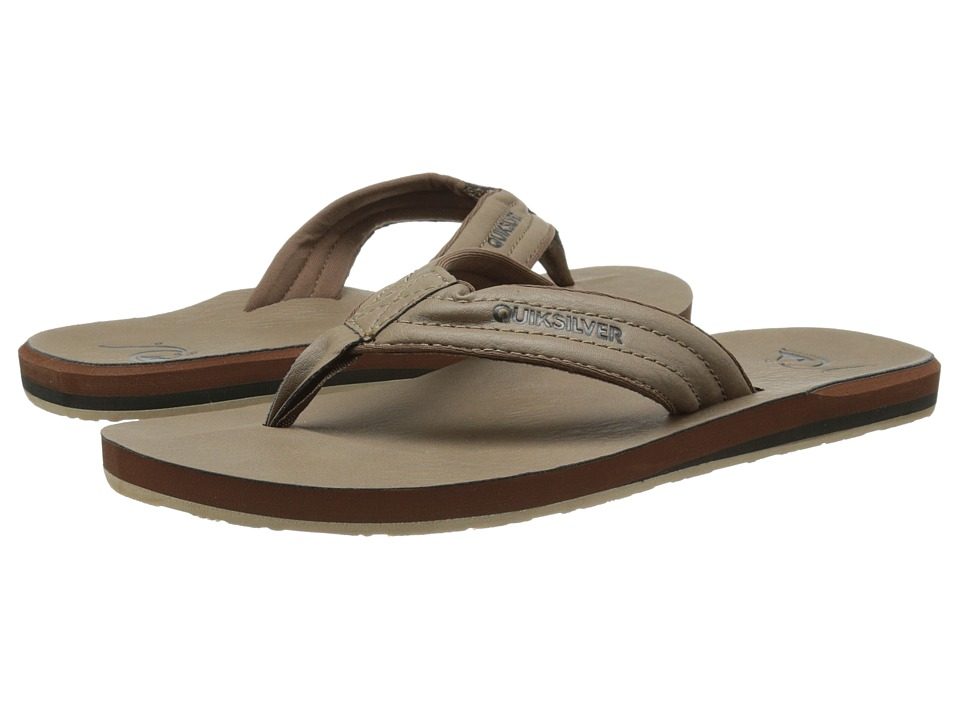 Quiksilver - Carver Nubuck (Tan - Solid) Men's Sandals