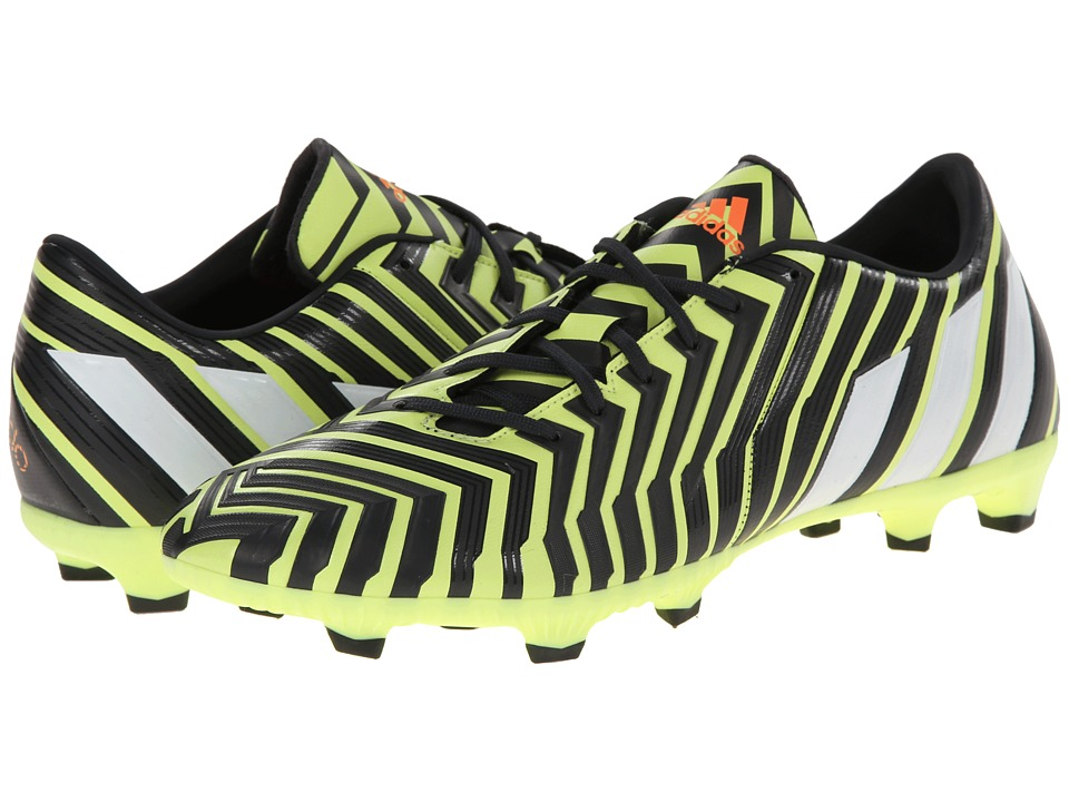 adidas - Predator Absolado Instinct FG (Light Flash Yellow/Core White/Dark Grey) Mens Soccer Shoes